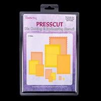 Press Cut Small Scalloped Nesting Die Set - Rectangle-080086