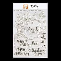 Hobby Art Occasions A5 Clear Stamp Set - 17 Stamps-082266