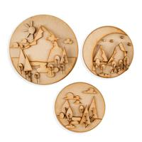 Olifantjie Graphic Mountains 3 x MDF Kits-082508