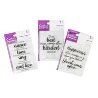 Crafter's Companion Clear Acrylic Stamps - Dance, View and Open D-086582