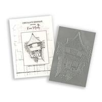 Chocolate Baroque In an English Country Garden A6 Rubber Stamp De-087622