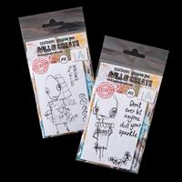 AALL & Create 2 x A7 Stamp Sets - Ettan and Hettie - 6 Stamps-087699