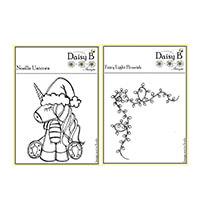 Nina Crafts Set of 2 Stamps - Noelle Unicorn & Fairylight Flouris-088676