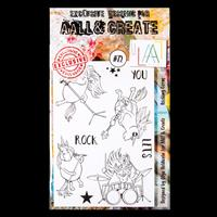 AALL & Create A6 Stamp Set - Rocking Corns - 8 Stamps-089745