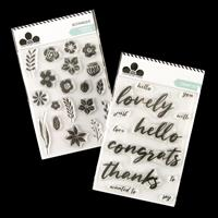 Craftwork Cards A6 Stamp Duo - Graceful - 31 Stamps Total-090913