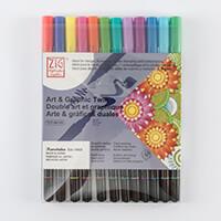 ZIG® KURECOLOR™ Set of 12 Art & Graphic Twin Watercolor Markers --091209