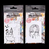 AALL & Create 2 x Stamp Sets - Furry Friends 2 and Paloma - 7 Sta-093360