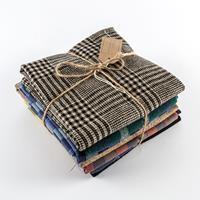 The Millshop Online 8 x Assorted Wool Mix Fat Quarters Bundle-094967