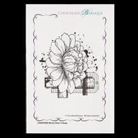 Chocolate Baroque A6 Rubber Stamp-096212