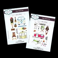Creative Expressions 2 x Stamp Sets - Gnome Set -  Summertime & S-098749