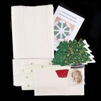 Cotton Cocktails Christmas Trees Table Centre Complete Kit-100984