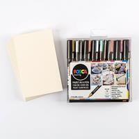 Posca 8 x PC-5M Metallic Set with Free 10 x Postcard Mounts worth-101636