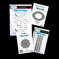 Creative Expressions 4 x Stamp Sets - Henna, Jewelled, Scribble R-102355