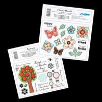 Creative Expressions 2 x A5 Stamp Plates - Flutter Florals & Butt-105659