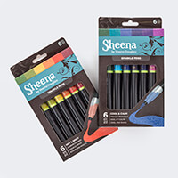 Sheena Douglass Set of 12 Sparkle Pens - Cool & Calm and Hot & Sp-106112