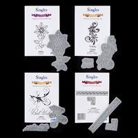 Creative Expressions 4 x Stamp Sets - Flourish, Swirl, Blossom & -106568