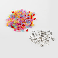 Impressions Crafts 270 x Lucite Flowers & 60 x Tibetan Style Char-107200