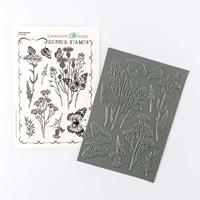 Chocolate Baroque Thistle Butterfly A5 Rubber Stamp Sheet - 8 Ima-109801