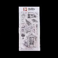Hobby Art The Allotment by Sharon Bennett DL Clear Stamp Set - 17-110357