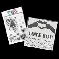 Imagine Design Create Heart Mix A6 Stamp Set and True Love 6x6