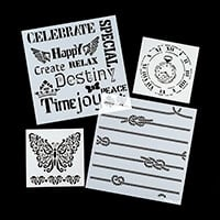 Imagination Crafts Stencils x 4 - 25x25cm Sailor and Sentiments w-112807