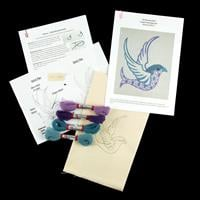 Quilt Dragon Kits - Art Nouveau Bird Complete Embroidery Kit with-113365