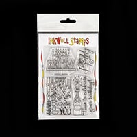 Inkwell For Birthdays Stamp Set - 4 Large Stamps Total-115109