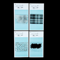 Mama Makes Set of 4 Mixed Media Stamps - Crackle, Weave, Large Sc-117254
