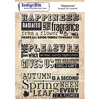 IndigoBlu Pre-Cut A5 Nature Stamp Set-118278