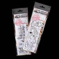 AALL & Create 2 x Clear Stamps - Chess Art & Industrial Scripts-118962