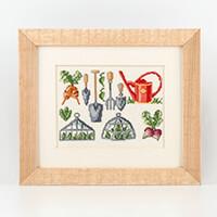 Permin Gardening Linen Cross Stitch Kit - 33 x 28 cm-119229