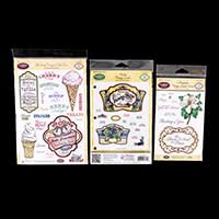 JustRite 3 x Vintage Label Decorative Stamp Sets   45 Stamps Tota-121180
