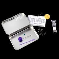 Gina-B Silkworks Button Maker's Third Hand & Tool Tin-121360