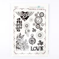 Chocolate Baroque Punky Romance A4 Stamp Sheet - 11 Images-122087