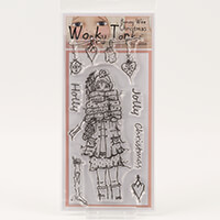 Which Craft? Wonky Tonk Bonny Wee Christmas DL Stamp Set - Holly -124660