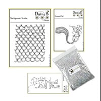 Nina Crafts Mermaids Tail, Scales, Sentiment Stamp Sets with Sea -126738