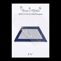 "Daisy & Grace 'Quilt as you go' Half Hexagon template - 2 1/2""-126806"