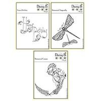 Nina Crafts Botanical Corner & Dragonfly and Ornate Birthday Stam-127140