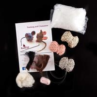 Knit2Felt Nutmeg and Cinnamon the Mice Knitting & Felt Kit-128744