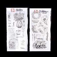 Hobby Art Remembrance & Sharon's Birthday DL Clear Stamp Sets - 2-130911