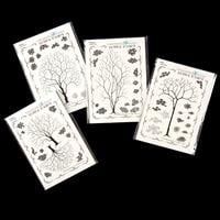 Chocolate Baroque Arboretum A6 Stamp Collection - 55 Stamps in To-131248