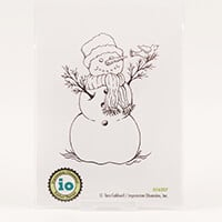 Impression Obsession Snowman with Bird Stamp-131913
