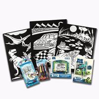 Flock Art 3 x Velvet Art Boards In Assorted Designs & 4 x Kids St-132424