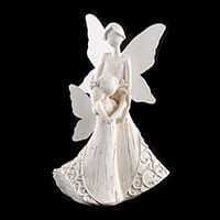 Mother & Child Angel Ornament - 25cm Approx-134930