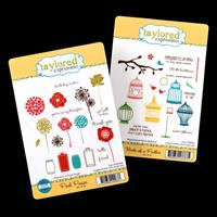 Taylored Expressions 2 x Stamp Sets - Posh Posies & Birds of a Fe-135414
