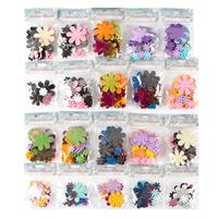 Flower Embellishment Kit - 20 x Packs of Assorted Flowers - Wool,-137472