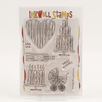 Inkwell Driftwood Celebrations Stamp Collection - Includes 8 Stam-137738