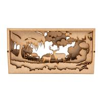 Samantha K 20cm Deer Forest Shadow Box-139200
