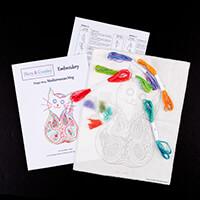 Dizzy & Creative Embroidery Mediterranean Mog Kit-139706
