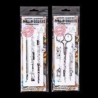 AALL & Create 2 Stamp Sets - Brushes and Scissors - ? Stamps-139729